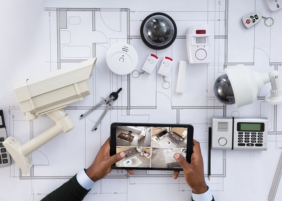 Security alarms and surveillance equipment